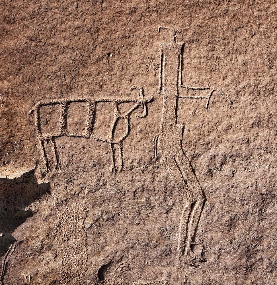 Eagle s nest petroglyph b arabian rock art heritage